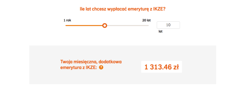Estymacja dodatkowej emerytury z IKZE NN Investment partners.