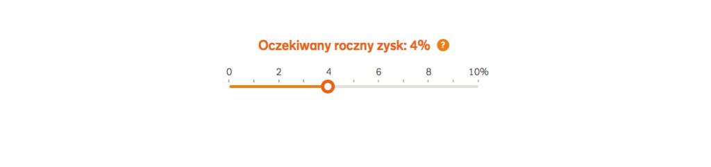 W tym kroku w w kalkulatorze IKZE NN Investment partners określamy roczny zysk.